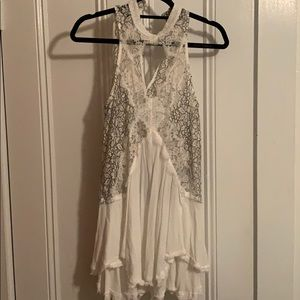 Free People White Lace Tunic